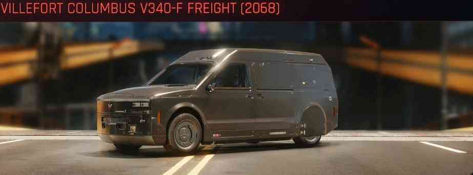 Cyberpunk 2077 Vehicle Guide cyberpunk 2077 villefort columbus v340 f freight 2068