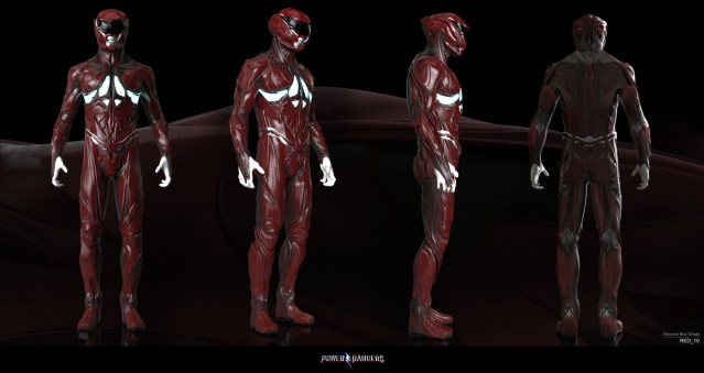 New Rejected Power Rangers Movie Suits