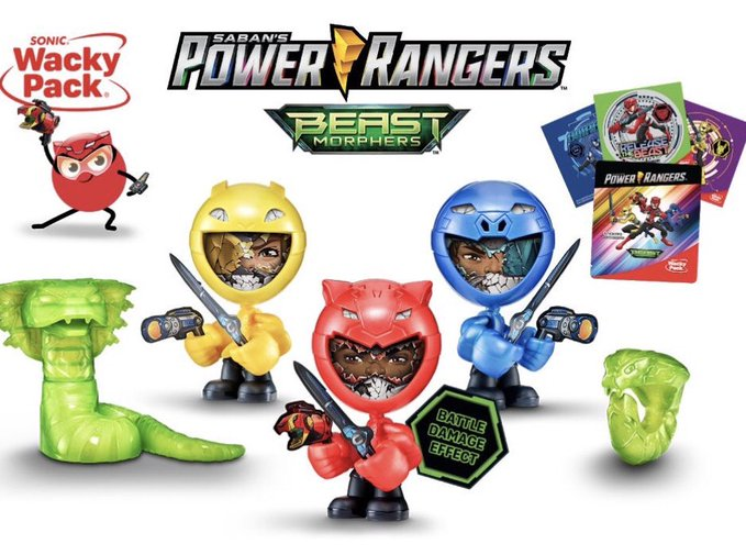 Power Rangers Beast Morphers Happy Meal Toys Arrive At Sonic