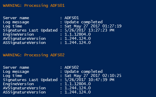 PowerShell FEP Results