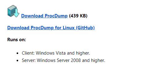 How to create dump files remotely (ProcDump) using