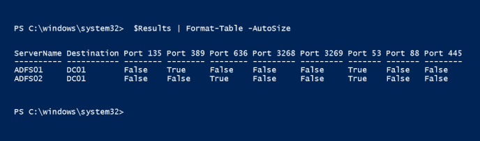 Test multiple ports on remote servers using PowerShell