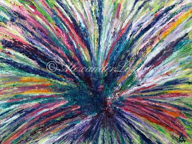 """Painting """"FULL ENERGY"""" Oil 80X60"""