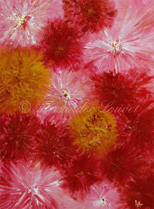 "Painting ""ROSE FANTASY"" Acrylic-Oil 80X60"