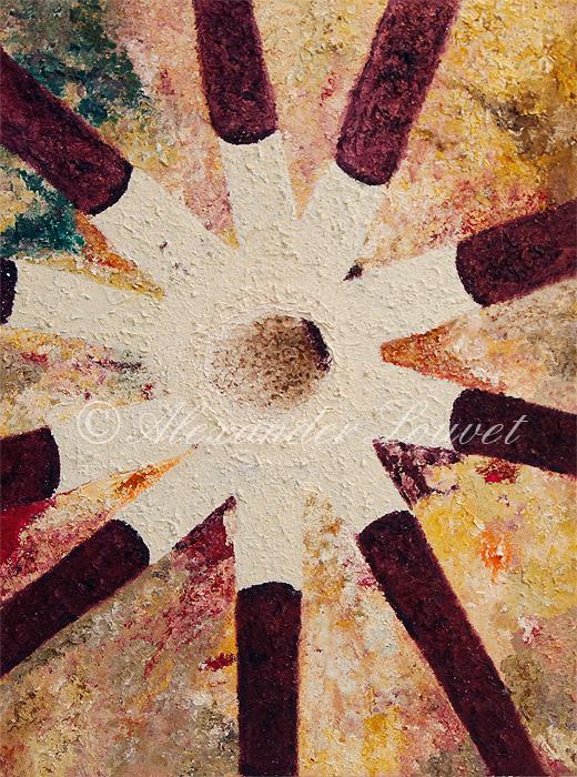 """Painting """"SEASTAR"""" Acrylic-Oil 80X60"""