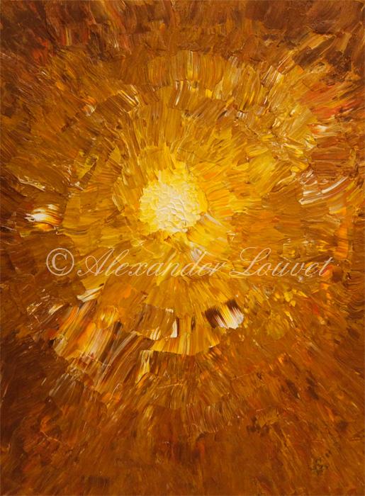 "Painting ""THE LIGHT"" Acrylic 80X60"