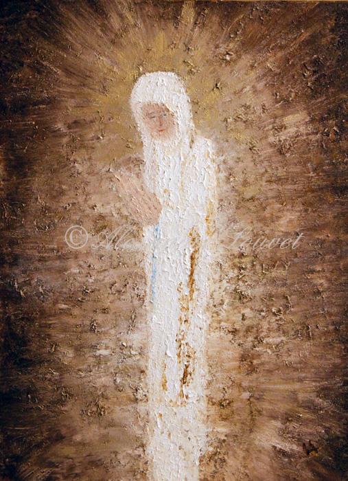 "Painting ""MARIA"" Acrylic-Oil 80X60"
