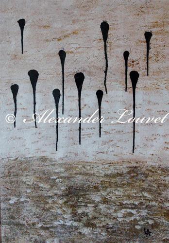 """Painting """"SKY DROPS"""" Latex 50X70"""