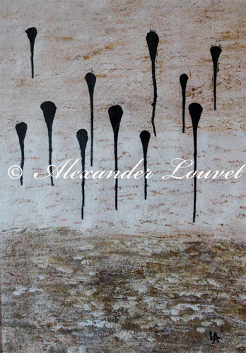 "Painting ""SKY DROPS"" Latex 50X70"