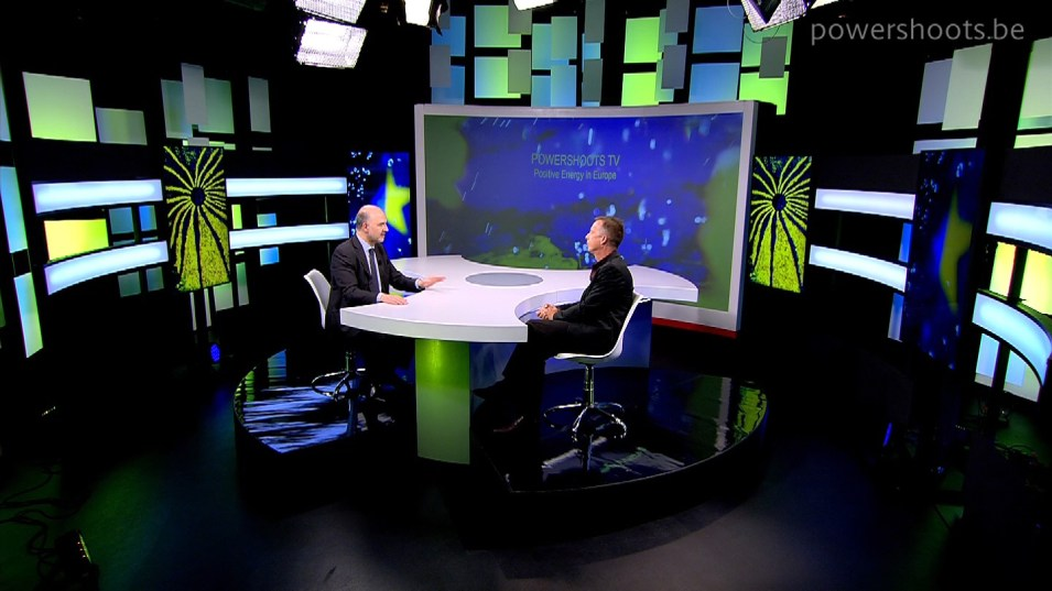 """Powershoots TV """"Positive Energy in Europe"""" - Interview with Pierre Moscovici"""