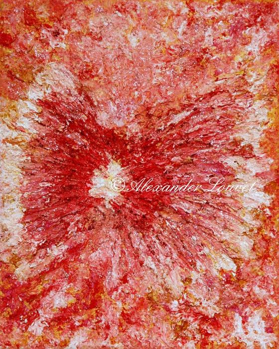 "Painting ""Flower Fly"" 30x24 Acrylic Oil"