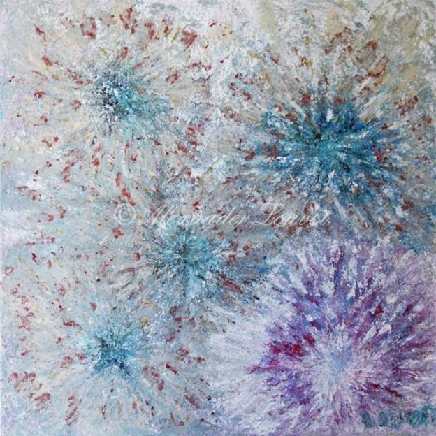 "Painting ""Magic Sea Stars"" 60x60 Oil"