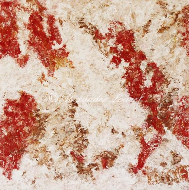 "Painting ""Lipstik Red Sea"" 60X60 Oil"