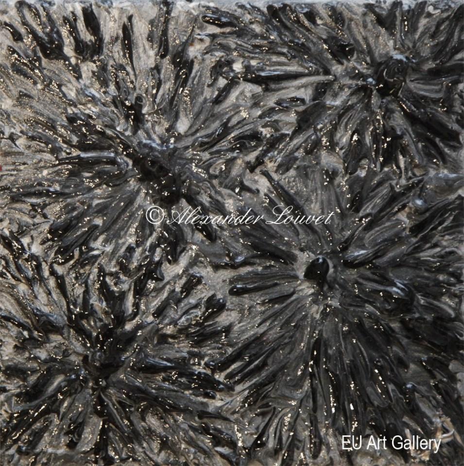 "Painting ""Slide"" - 20X20 - Acrylic-Oil"
