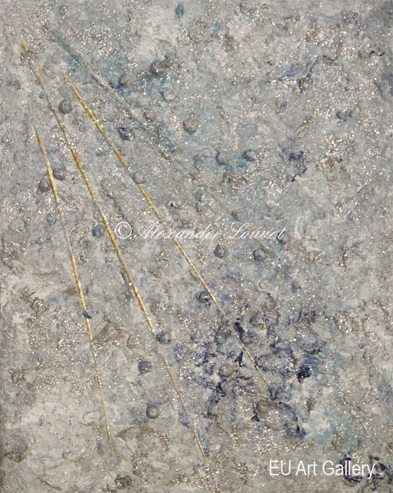 "Painting ""Cristal Sun III"" 24x30 Acrylic-Oil"