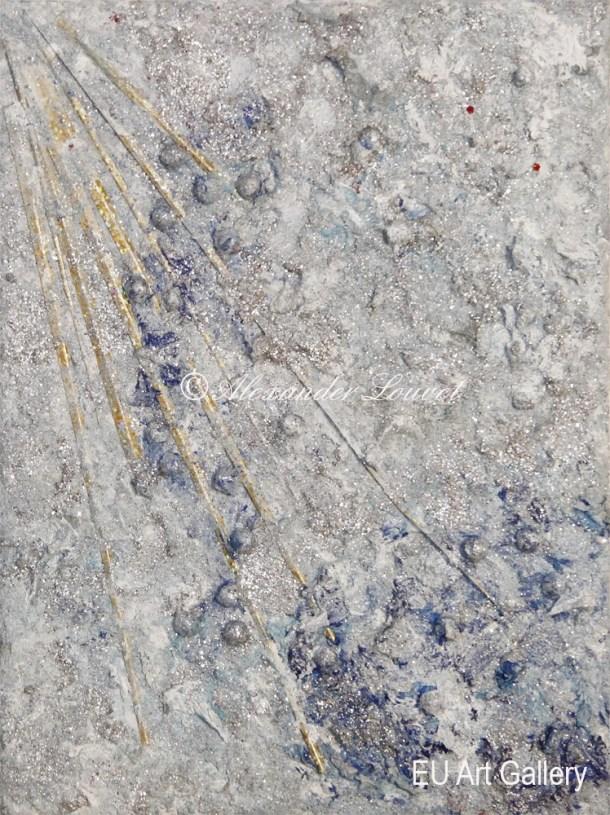 "Painting ""Cristal Sun II"" 18x24 Acrylic-Oil"