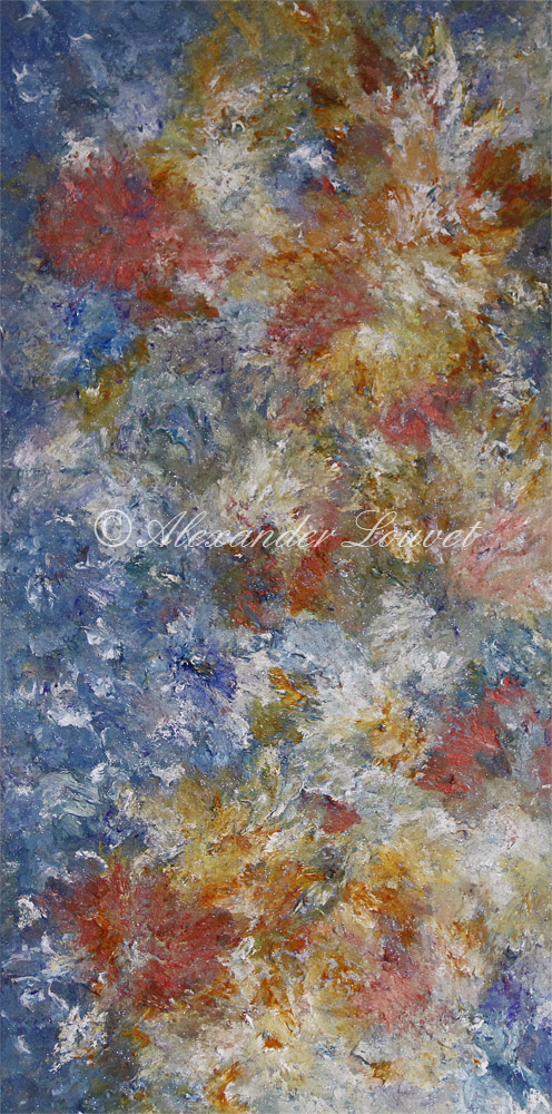 "Painting ""Sheila"" 50X100 Acrylic-Oil"