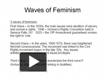 ppt waves of feminism