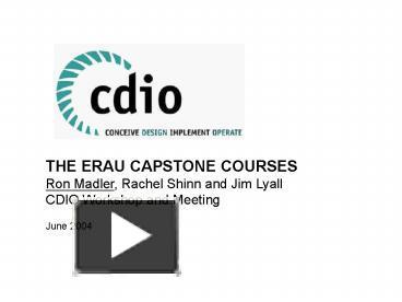 PPT – THE ERAU CAPSTONE COURSES PowerPoint Presentation Free To
