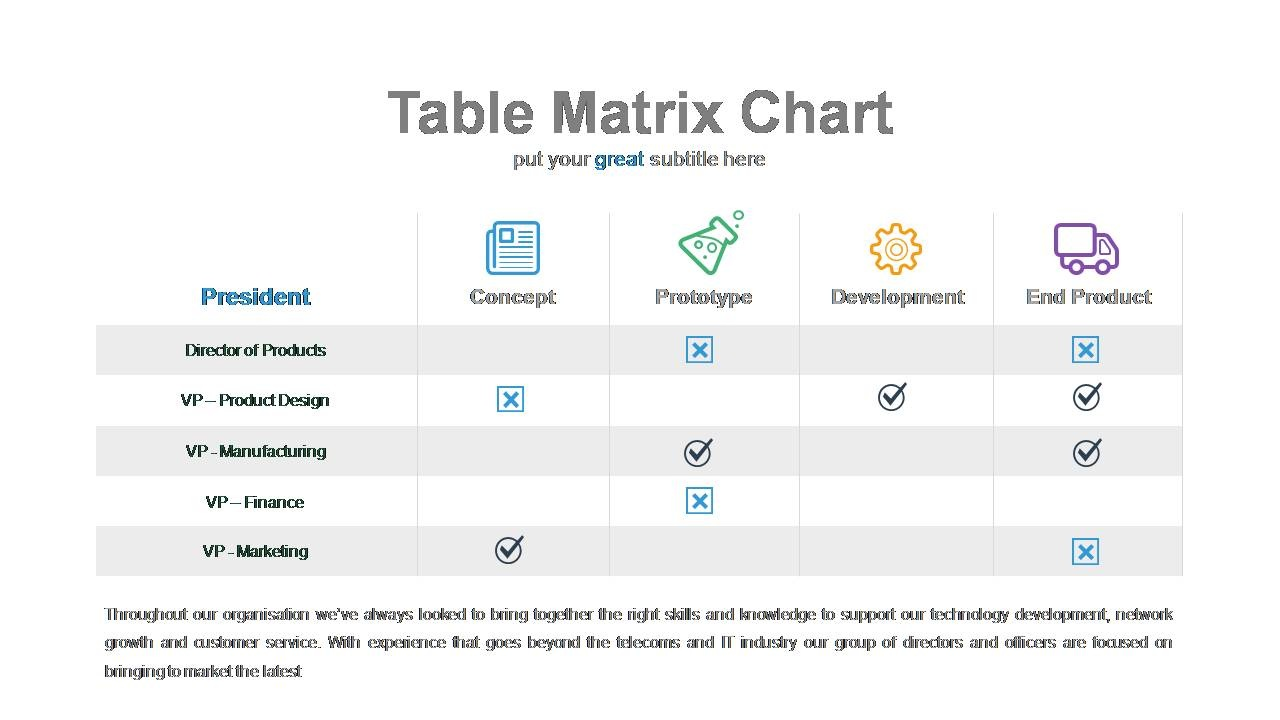 modern matrix charts powerslides