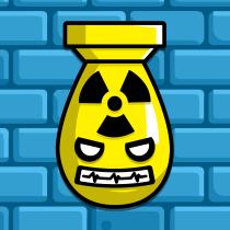 Botpocalypse Bomb Icon Blue Brick