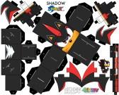 Cubeecraft de personaje de Sonic. Manualidades a Raudales.