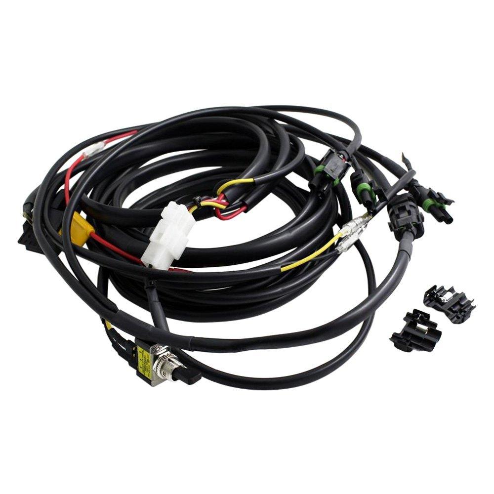 medium resolution of baja designs wiring harness powersportsid com led lightbar wire harness w high beam and toggle switch 640118