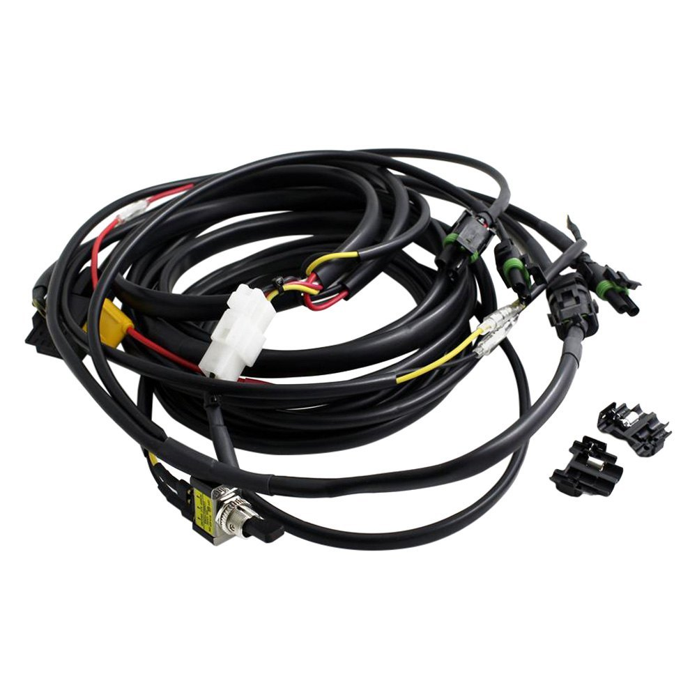 hight resolution of baja designs wiring harness powersportsid com led lightbar wire harness w high beam and toggle switch 640118