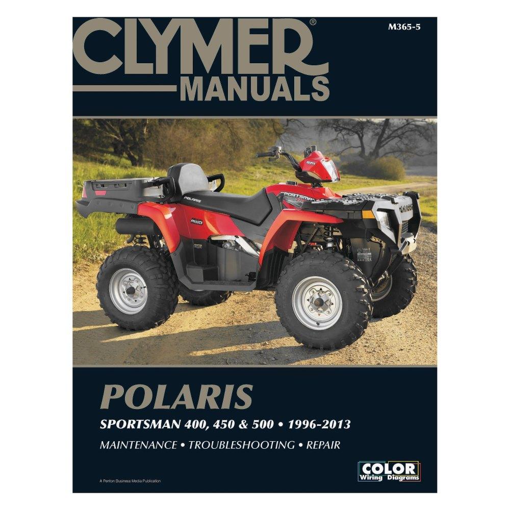 medium resolution of clymer polaris 400 450 and 500 sportsman 1996 2013 manual