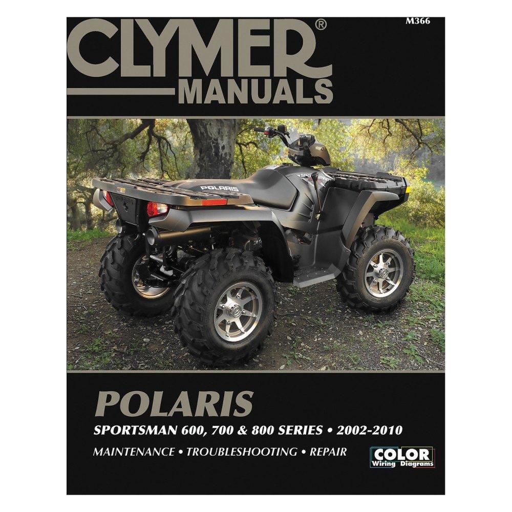 medium resolution of clymer polaris sportsman 600 700 and 800 series 2002 2010 manual