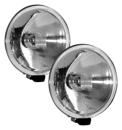 hella 500 series ece 6 4 2x55w round driving beam lights [ 1000 x 1000 Pixel ]