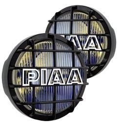 piaa 520 series 6 2x55w round fog beam yellow lights [ 1000 x 1000 Pixel ]