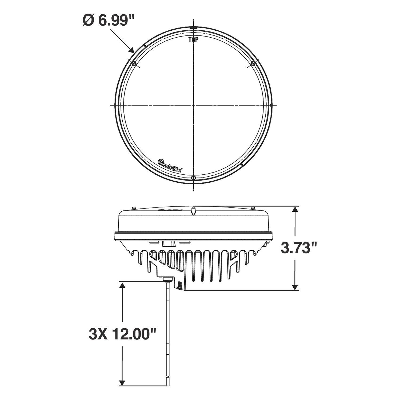 hight resolution of  lighttruck lite 81 series stud mount 7 round flood beam led work light scheme