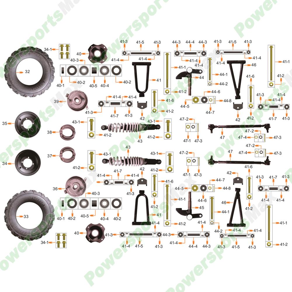 medium resolution of atv 3125r front wheel assembly