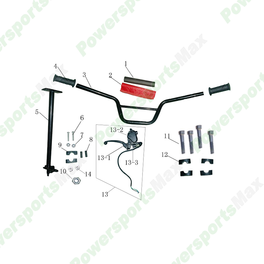 ATA125D Steering Assy ATVs Parts