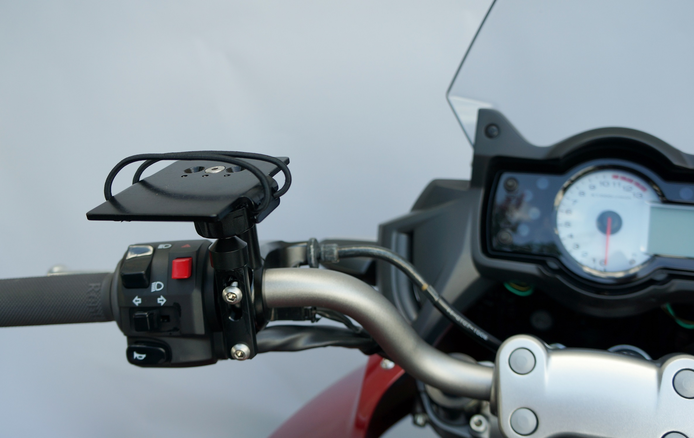 Motorcycle Radar Detector Mounting System Techmount