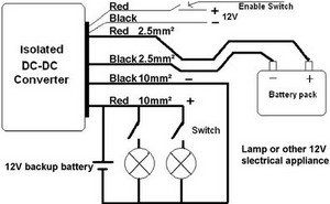 12V battery chargers to use in 144 Volt, 196 Volt, 240