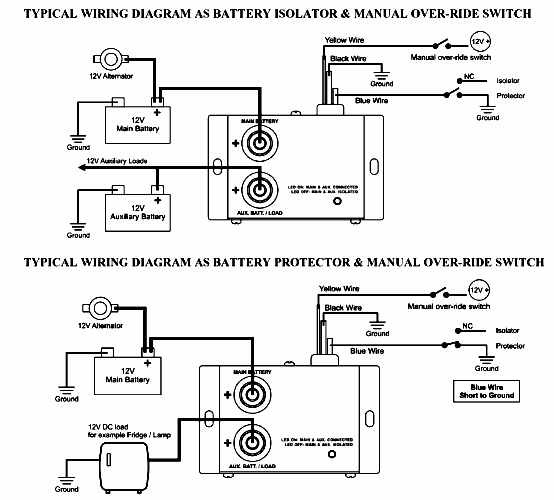Sure Power Battery Isolator Wiring: SURE POWER BATTERY SEPARATOR WIRING DIAGRAM