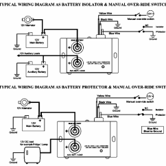 Rv Battery Isolator Wiring Diagram Duncan Diagrams 12 Volt And 24 80 Amp Dc Split Charge Solid State Relay For Rv, Car ...