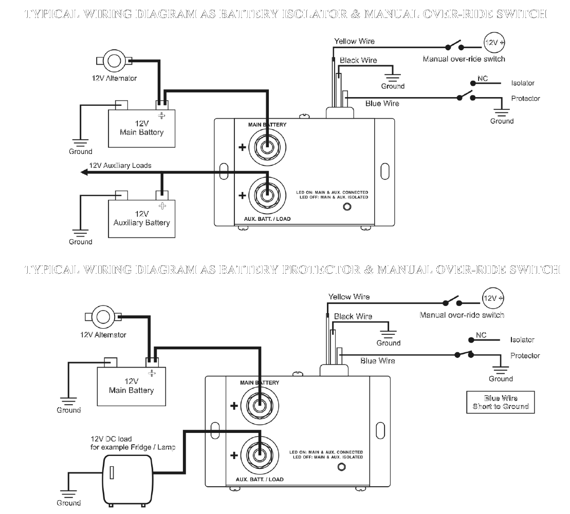 Rv Battery Isolator Wiring Diagram : 34 Wiring Diagram