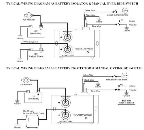 small resolution of installation diagram for battery isolator 12 volt