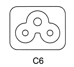 IEC cord, plug and socket designations, power cord styles