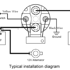 Wiring Diagram For 12 Volt Relay Fios Router Robust Inexpensive 12v 150 Amp Smart Battery Isolator And Installation
