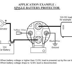 Wiring Diagram For 12 Volt Relay 2005 Chevy Equinox Cooling System Robust Inexpensive 12v 150 Amp Smart Battery Isolator And Installation Use As A Low Voltage Batery Cuttout