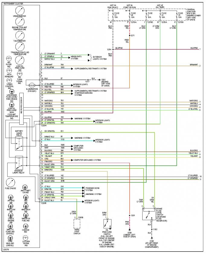 ford f 350 engine diagram wiring for horn relay 2006 wire data schema no map lights powerstroke diesel forum 2003 250 extended cab