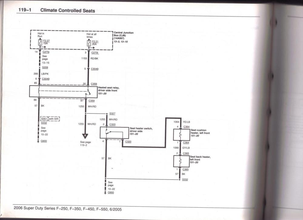 medium resolution of heated seat wire diagram page 2 ford powerstroke diesel forum