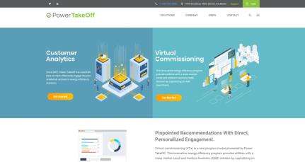 Screenshot of the homepage.