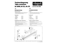 Table length extension hf 33 Accessories for Scheppach