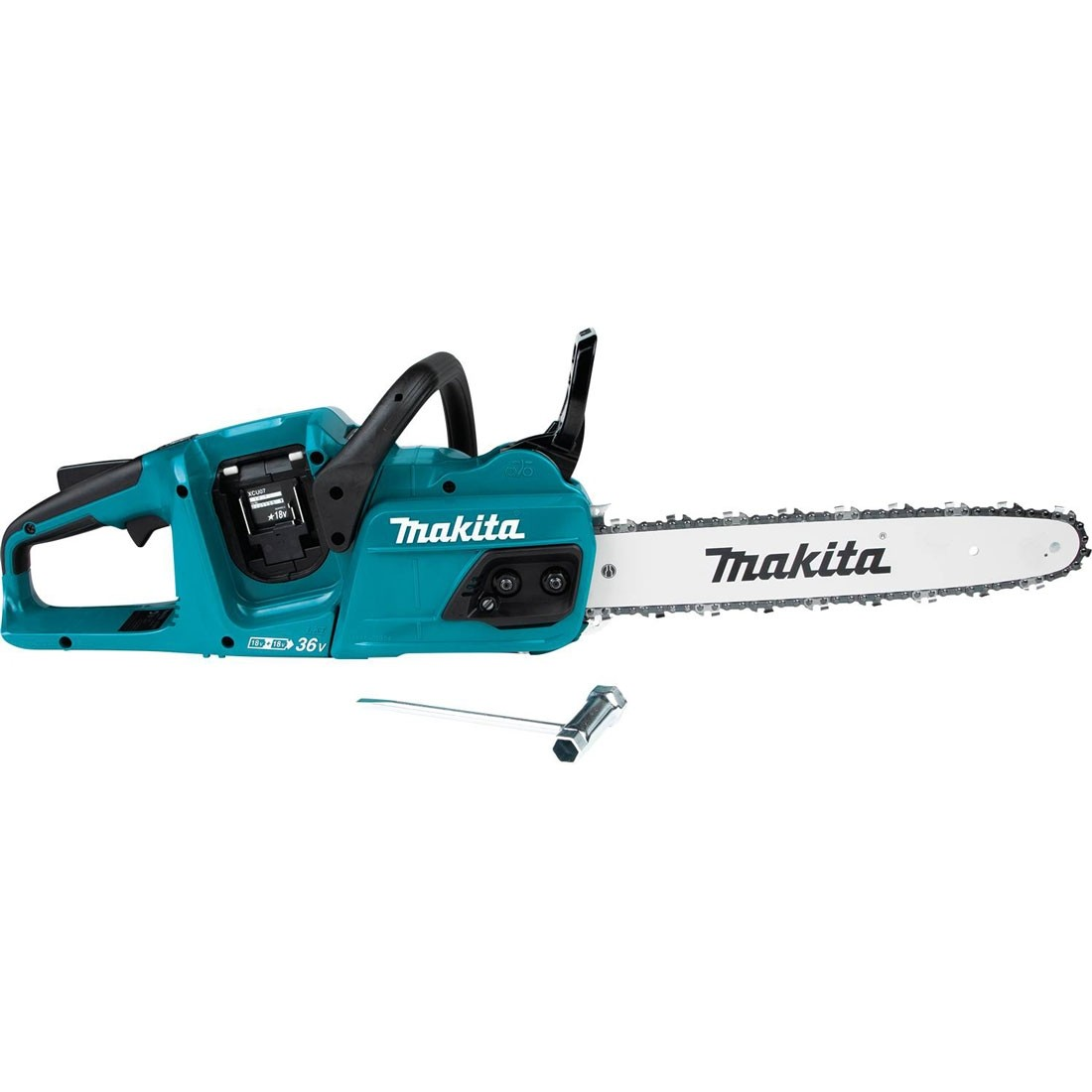 hight resolution of makita duc355z 35cm 14 twin 18v lxt brushless chainsaw body only