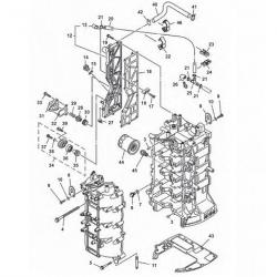Motorblok Yamaha Buitenboordmotor Onderdelen (4-Takt